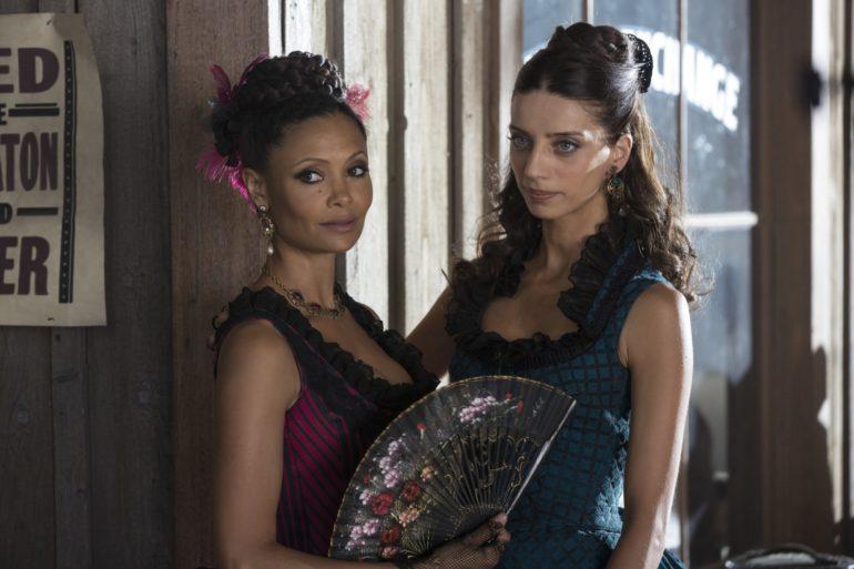 Thandie-Newton-as-Maeve-Millay-Angela-Sarafyan-as-Clementine-Pennyfeath...